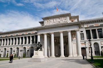 Entrance into 'Museo del Prado' from 'Paseo del Prado' street, M