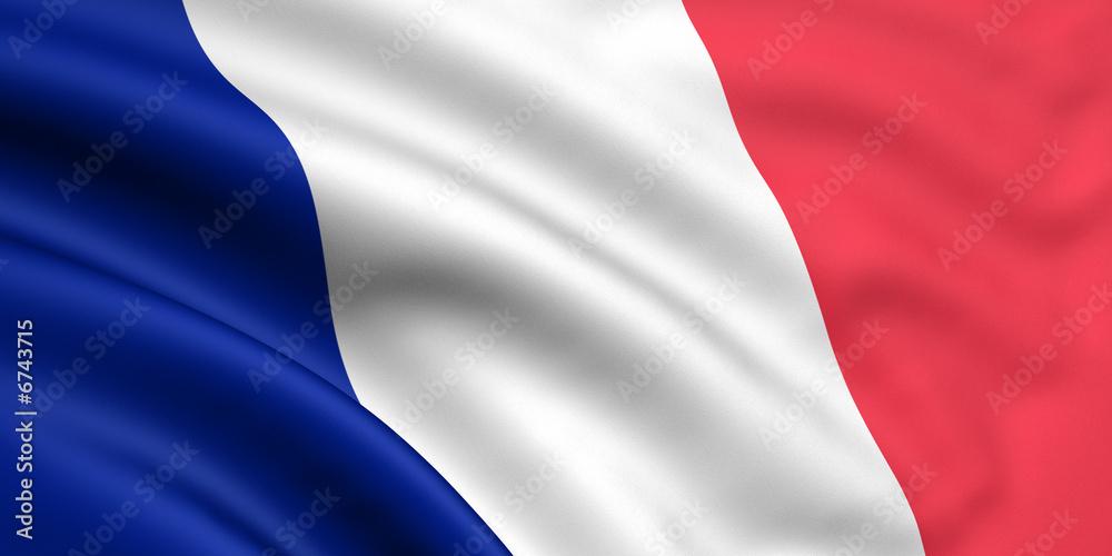 Fototapety, obrazy: Rendered french flag