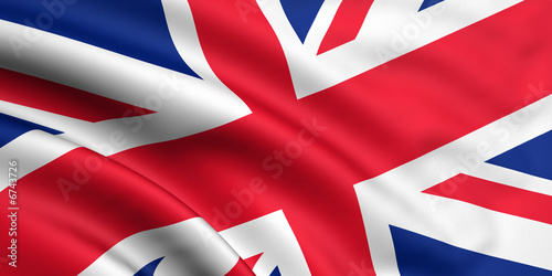 Rendered union jack Wallpaper Mural
