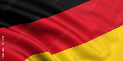 Rendered german flag Canvas Print