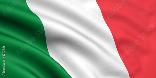 Fotografiet  Rendered italian flag