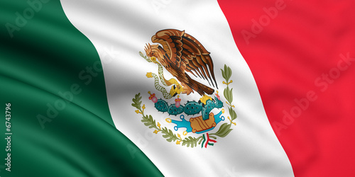 Rendered mexican flag