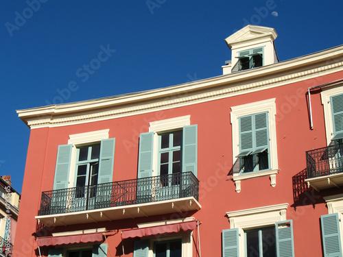 Fotografie, Tablou Vieux Nice façade place Masséna