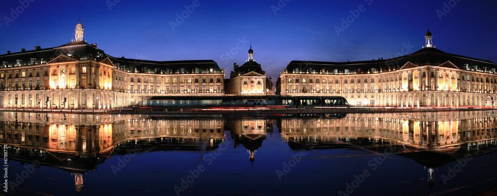 Fototapety, obrazy: Place de la Bourse à Bordeaux - Gironde