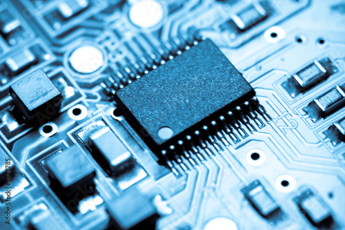 Blue microelectronics Fototapet
