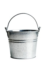 Metal Bucket With Handle On A ...