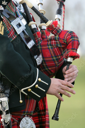 Fotografering Scottish Bagpiper
