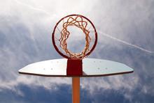 Basketball Hoop Shot From Unde...