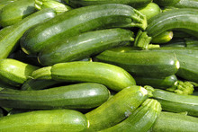 Courgettes At Farmers Market