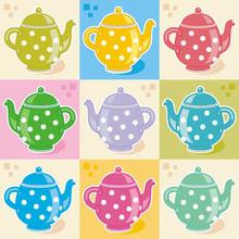Polka-dot Teapots Decorative P...