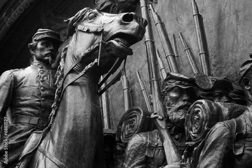 Fotografie, Obraz  civil war bas-relief