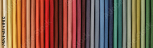 colored fabric catalog to serve as background Fototapete