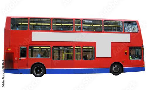 Türaufkleber London roten bus London bus red double decker isolated