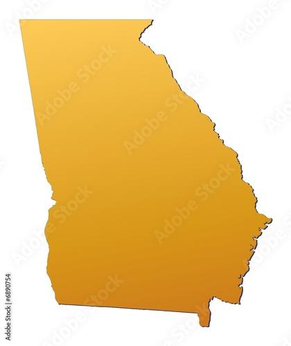 Georgia (USA) map filled with orange grant - Buy this ... on a political map of georgia usa, florida map usa, md map usa, california map usa, sc map usa, ia map usa, missouri map usa, savannah map usa, ct map usa, kentucky map usa, carolina's map usa, nc map usa, map of south georgia usa, michigan map usa, ks map usa, indiana map usa, state map usa, ohio map usa, alabama map usa, wi map usa,