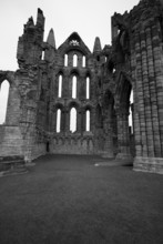 Whitby Abbey In Black & White