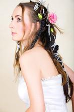 Beautiful Young Bride In Weddi...