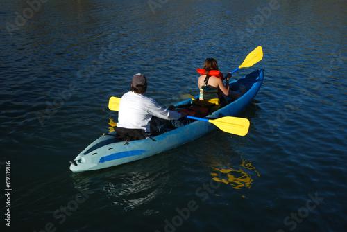 Poster Water Motor sports Kayak on the Lake