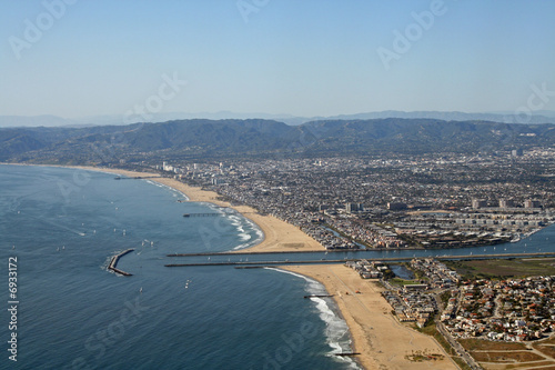 Aerial View of Santa Monica and Marina Del Rey Canvas Print