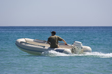 Rubber Dinghy With Captain