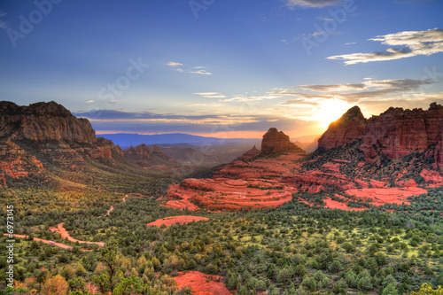 Canvas Prints Arizona Red Rocks sunset