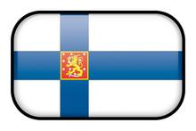 Bouton Drapeau De La Finlande