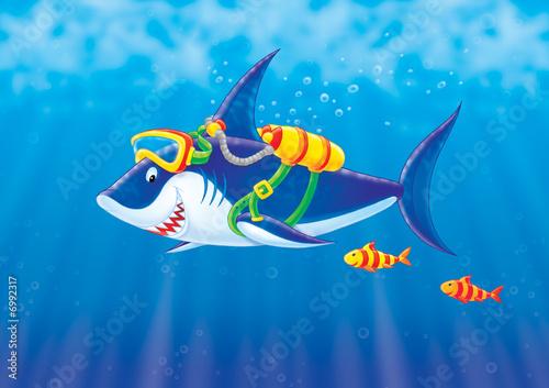 Foto-Plissee - Shark (von Alexey Bannykh)