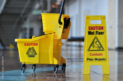 Slika na platnu Caution Wet Floor