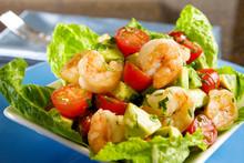 Avocado Shrimp Salad With Cherry Tomatoes