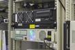 Industrial server in rack of collocation center