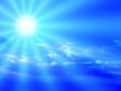 Leinwanddruck Bild blue sky and sunbeam