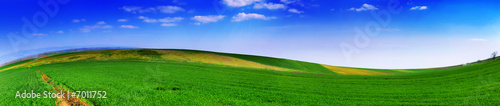 Acrylic Prints Green Landscape panoramic 2