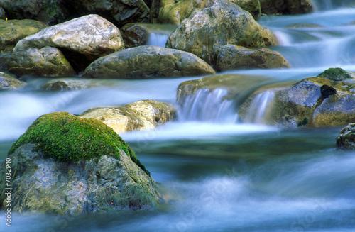 Bach im Wald Fototapeta