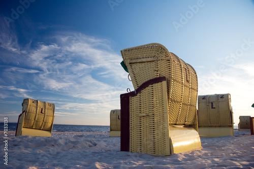 Foto-Schiebegardine Komplettsystem - Strandkorb