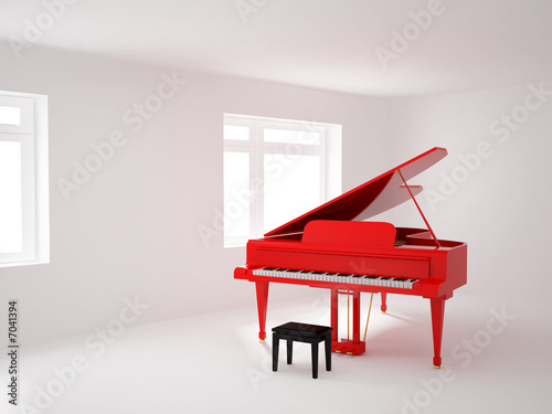 Room with a grand piano #7041394