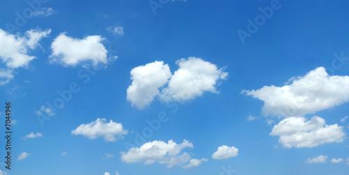 Aluminium Prints Heaven Beautiful summer clouds
