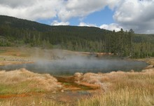 Hot Lake In Yellowstone NP