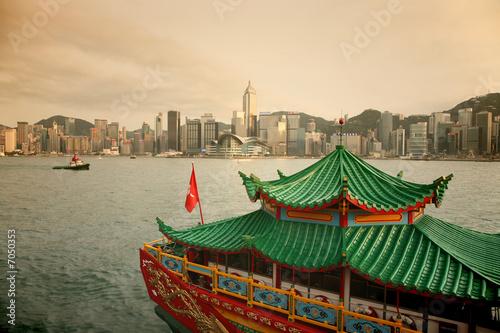Montage in der Fensternische Hongkong Hong Kong