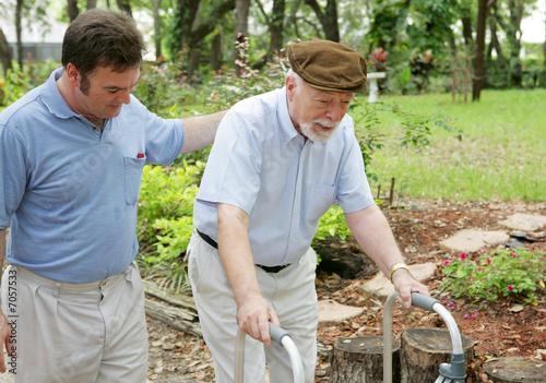 Fotografie, Obraz  Son & Elderly Father