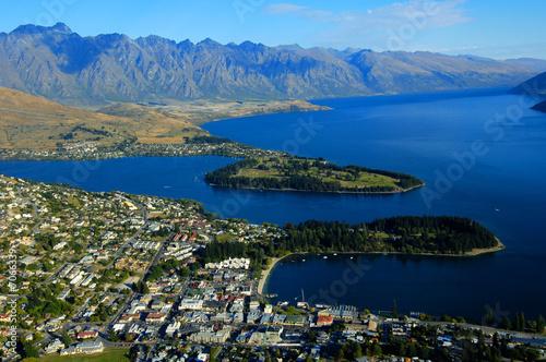 Aluminium Prints New Zealand Queenstown and Lake Wakatipu, New Zealand