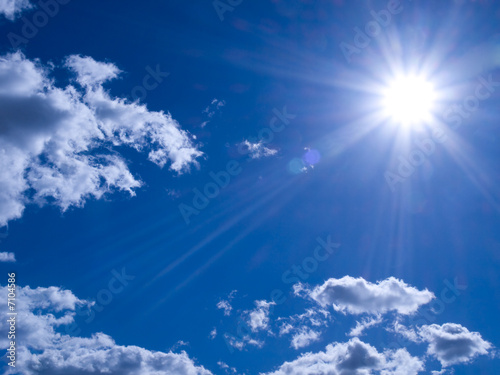 fototapeta na ścianę Słońce Midday
