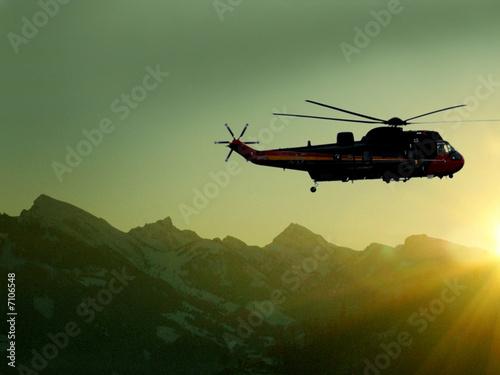 Türaufkleber Hubschrauber Alpenrundflug
