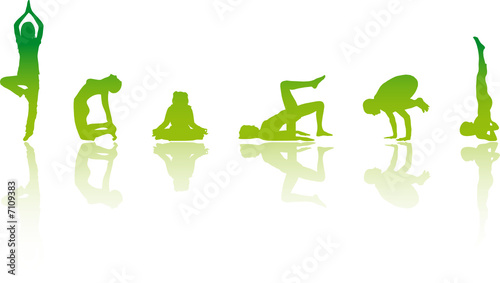YOGA Girls Vector Illustration #7109383