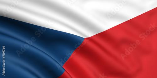 Photo Flag Of Czech Republic