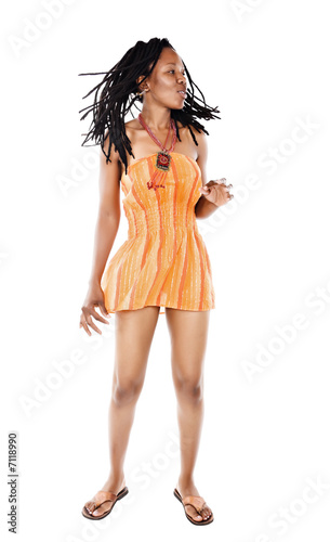 Fotografie, Obraz  Rastafarian girl