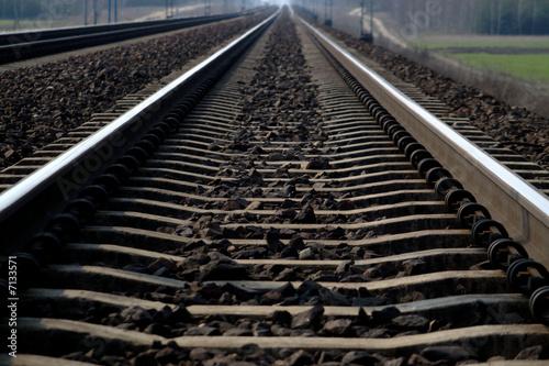 Obraz Rail Road Tracks - electrical - fototapety do salonu