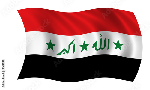 Fotografering  irak fahne iraq flag