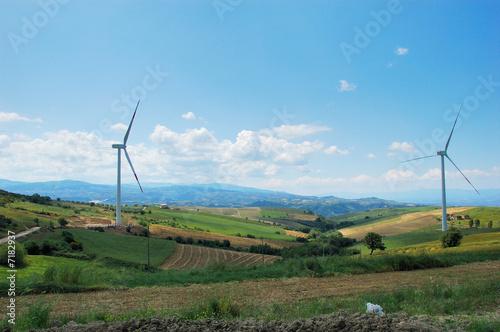 Fotografie, Obraz  paesaggio eolico