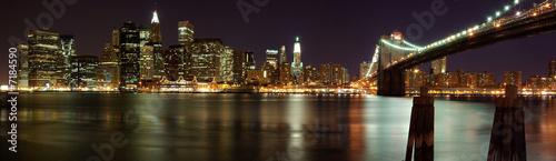 Naklejki na drzwi   manhattan-panorama-z-mostem-brooklynskim-nowy-jork