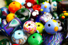 Assorted Colorful Beads, Closeup