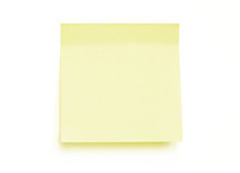 Yellow Note Pad Reminder